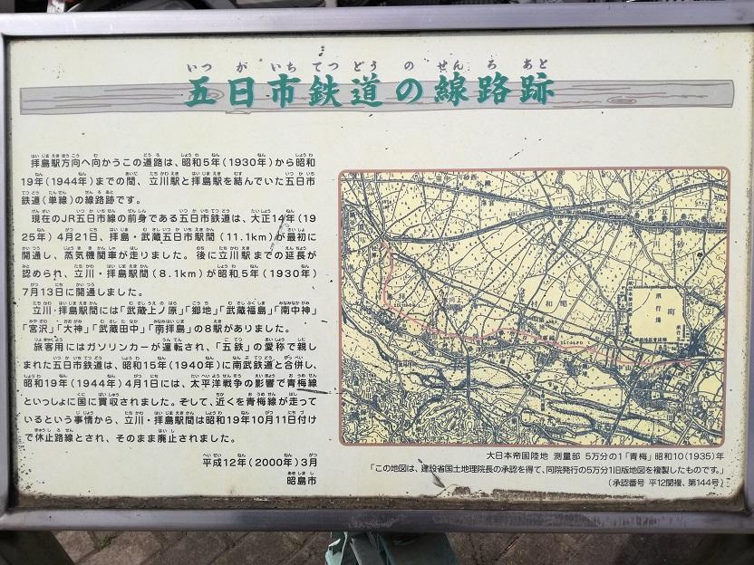 五日市鉄道の線路跡