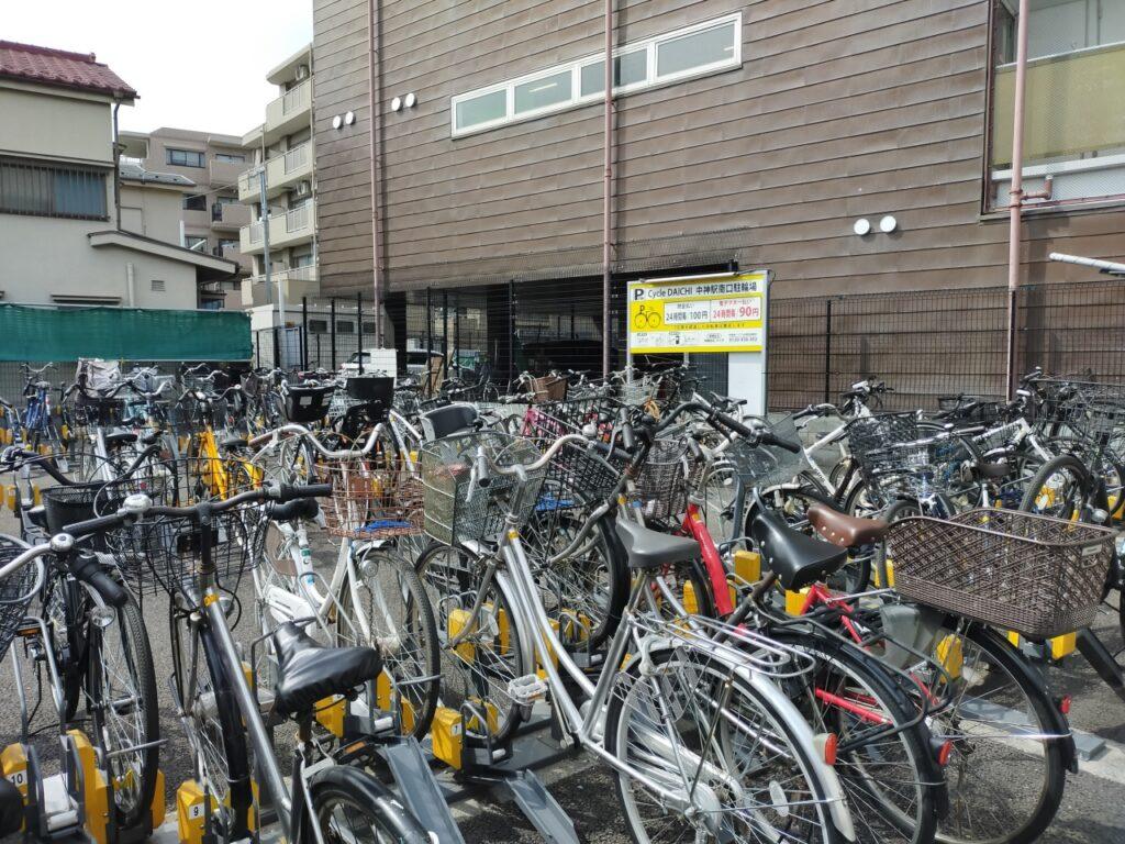Cycle DAICHI中神駅南口駐輪場は